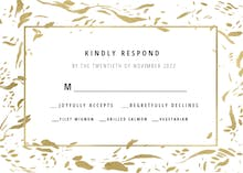 Rushed flakes - RSVP card