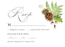 Rustic Greenery - RSVP card