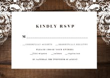 Rustic Lace - RSVP card
