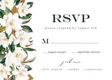 Simple Magnolia - RSVP card