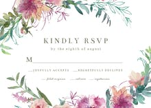 Sketchy Florals - RSVP card