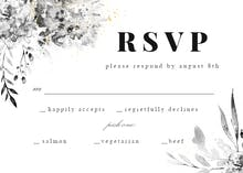 Smokey Flowers - RSVP card