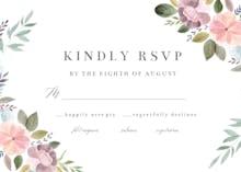 Soft Floral - RSVP card