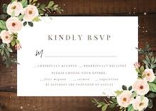 Sparkling rustic floral - RSVP card