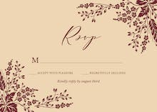 Sprig Sprays - RSVP card