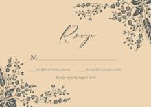 Sprig Sprays - RSVP card