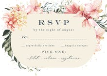 Spring Pastel Flower - RSVP card