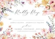Spring Warming Flowers - RSVP card