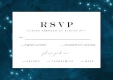 Starry Night - Tarjeta De Confirmación De Asistencia A Eventos