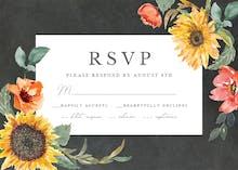 Sunflower Border - RSVP card