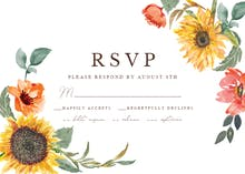 Sunflower Border - RSVP card