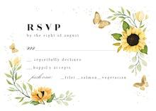 Sunflower Corner - RSVP card