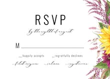 Sunflowers And Dahlias - RSVP card