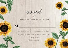 Sunflowers and wood - RSVP card