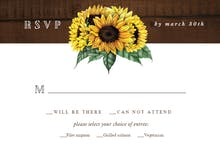 Sunflowers filled jar - RSVP card