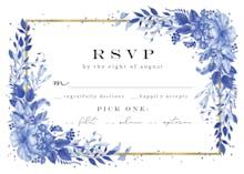 Surreal Indigo Bouquet - RSVP card