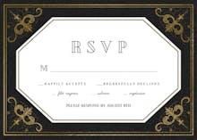 Swirls and Frames Black - RSVP card