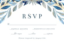 Touch of gold frame - RSVP card