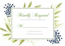 Tropical Floral - RSVP card