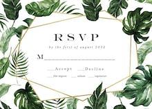 Tropical leaves - Tarjeta De Confirmación De Asistencia A Eventos