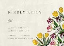 Tulips - RSVP card