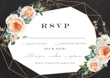 Watercolor Crystal Frame - RSVP card