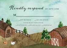 Watercolor farm - RSVP card