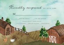 Watercolor farm - Tarjeta De Confirmación De Asistencia A Eventos