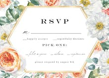 Watercolor Floral Geometric - RSVP card