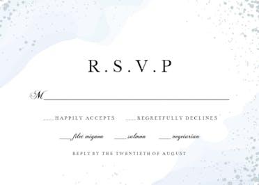 Watercolor Waves RSVP - RSVP card