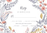 Wedding Wreath - RSVP card