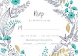 Wedding Wreath - RSVP card