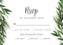 Winter Wreath - RSVP card