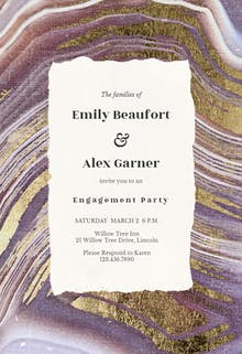 Agate rock - Engagement Party Invitation