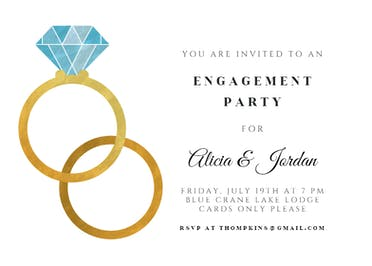 Big rings - Engagement Party Invitation