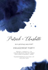 Blue Ink - Engagement Party Invitation