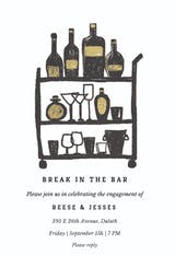 Break in the bar - Engagement Party Invitation