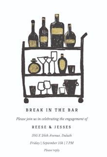 Break in the bar - Party Invitation