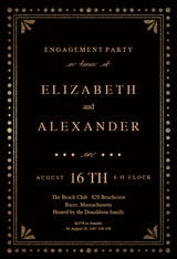 Fancy night - Engagement Party Invitation