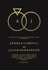 Connected rings - Engagement Party Invitation