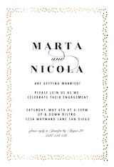 Fancy Frame - Engagement Party Invitation
