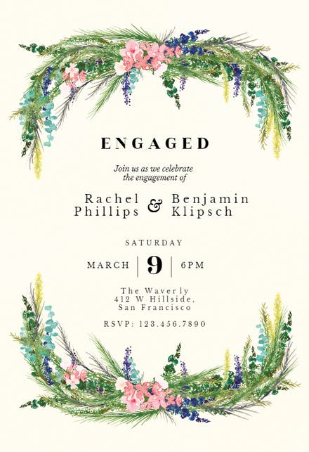 Engagement Party Invitation Templates Free Greetings Island