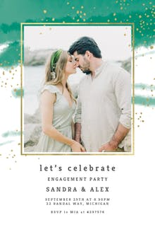 Fresh & Fancy - Engagement Party Invitation