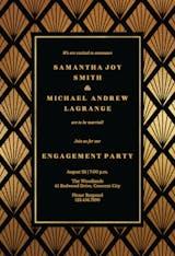Golden Shells - Engagement Party Invitation