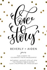 Love Story - Engagement Party Invitation