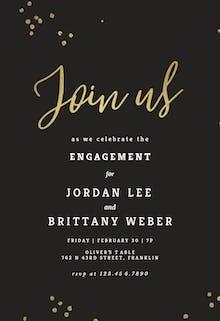 Minimal confetti - Engagement Party Invitation