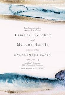 Modern Fluid - Engagement Party Invitation