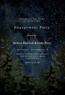 Rustic forest - Engagement Party Invitation