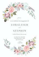 Soft Floral - Engagement Party Invitation