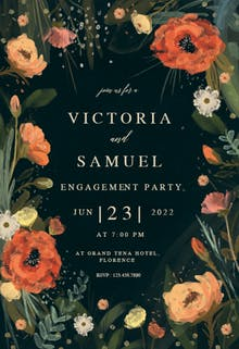 Wild Flowers - Engagement Party Invitation Template